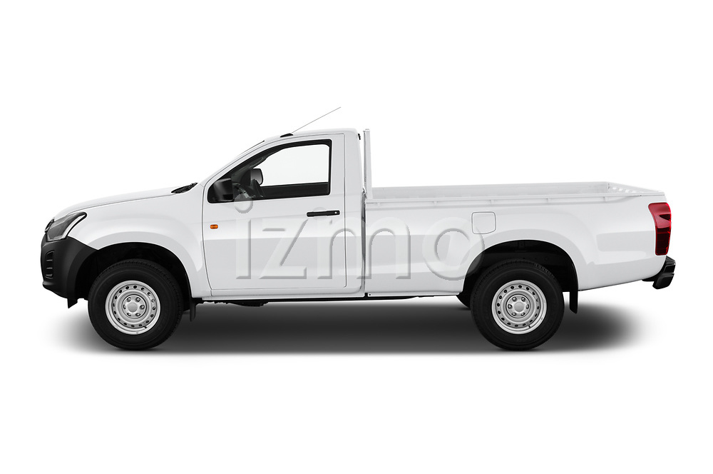 Car Driver side profile view of a 2019 Isuzu D-Max LT 2 Door Pick-up Side View