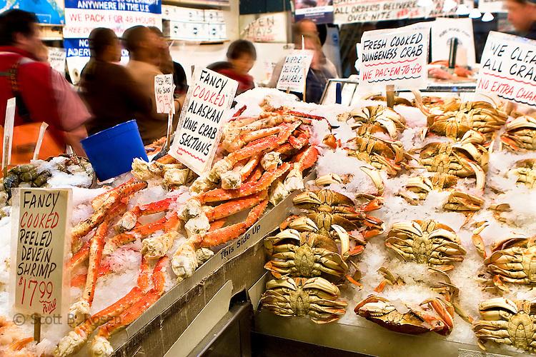 Fresh Fish at Pikes Place Fish Market, Seattle, Washington