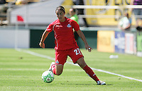 Ali Krieger controls the ball. FC Gold Pride defeated Washington Freedom 3-2 at Buck Shaw Stadium in Santa Clara, California on August 1, 2009.