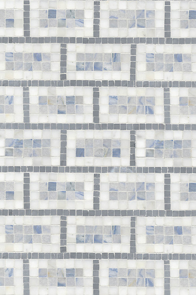 Name: Triple Brick<br /> Style: Classic<br /> Product Number: CB206<br /> Description: Triple Brick in Bardiglio, Calcatta Tia, Blue Macauba (p)