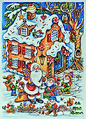 Interlitho-Theresa, CHRISTMAS SANTA, SNOWMAN, WEIHNACHTSMÄNNER, SCHNEEMÄNNER, PAPÁ NOEL, MUÑECOS DE NIEVE, paintings+++++,santa, ginger bread hous,KL6124,#x#