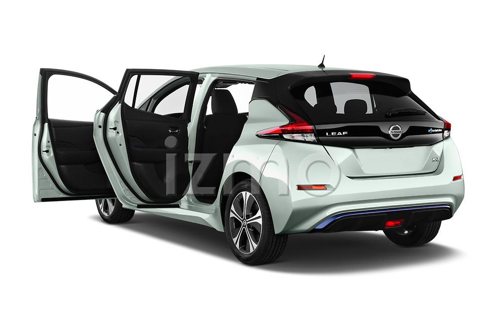 Car images close up view of a 2019 Nissan Leaf SV 5 Door Hatchback doors