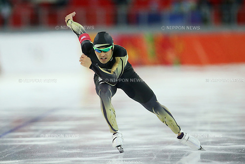 Keiichiro Nagashima (JPN), <br /> FEBRUARY 10, 2014 - Speed Skating : <br /> Men's 500m <br /> at &quot;ADLER ARENA&quot; Speed Skating Center <br /> during the Sochi 2014 Olympic Winter Games in Sochi, Russia. <br /> (Photo by Koji Aoki/AFLO SPORT) [0008]