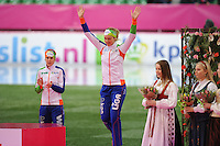 SCHAATSEN: HAMAR: Vikingskipet, 11-01-2014, Essent ISU European Championship Allround, podium 1500m Ladies, Ireen Wüst (NED), Yvonne Nauta (NED), ©foto Martin de Jong