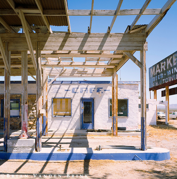 Abandoned Gas Station/Cafe, Route 66, Essex, California