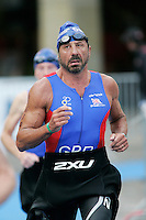 02 SEP 2007 - HAMBURG, GER - Sir Rocco Forte (GBR) - World Age Group Triathlon Championships. (PHOTO (C) NIGEL FARROW)