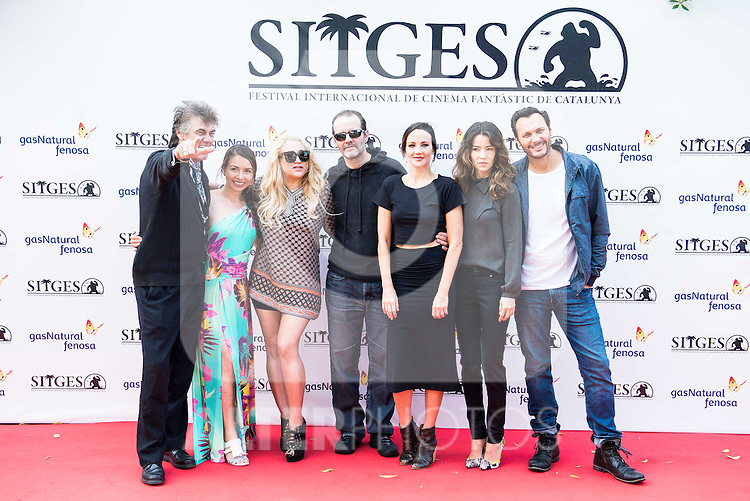"Danny Bellens, Nikita Black, Jennifer Blanc Biehn,  Michael Biehn,  Vedette Lim and Kurk Kasparian during the photocall of the presentation of ""Psychophonia"" at Festival de Cine Fantastico de Sitges in Barcelona. October 08, Spain. 2016. (ALTERPHOTOS/BorjaB.Hojas)"