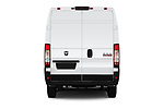 Straight rear view of a 2019 Ram Promaster Base 3 Door Cargo Van stock images