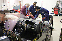 Car donated by Honda with cut away sections so students can more easily see how it works, Motor Mechanics, Further Education College.