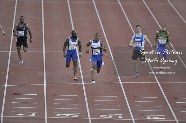 Chijindu Ujah. Mens 100m. British Athletics Championships. Alexander Stadium, Perry Barr, Birmingham, England, UK. 05/07/2015. MANDATORY Credit Garry Bowden/SIPPA - NO UNAUTHORISED USE - 07837 394578