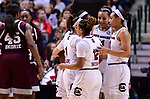 DALLAS, TX - APRIL 2:  South Carolina Gamecocks huddle during the 2017 Women's Final Four at American Airlines Center on April 2, 2017 in Dallas, Texas.  (Photo by Ben Solomon/NCAA Photos via Getty Images)