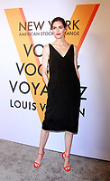 NEW YORK, NY October 26, 2017 Hilary Rhoda attemd  Volez Voguez Voyagez x Louis Vuitton - Exhibition Preview at the Former America Stock Exchanging Build in New York October 26,  2017. Credit:RW/MediaPunch /NortePhoto.com