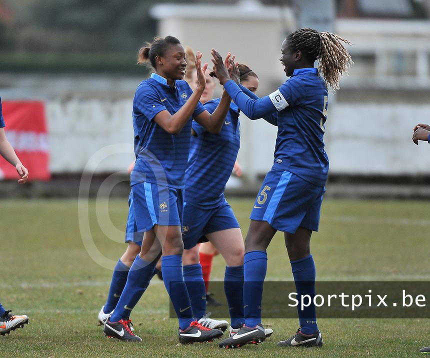 Switzerland U19 - France U19 : France celebrating Kadidiatou Diani 's goal (left).foto DAVID CATRY / Nikonpro.be