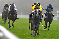 Winner of The Brunton Publications Pembroke HandicapAlfred Boucher ridden by David Probert and trained by Henry Candy during Horse Racing at Salisbury Racecourse on 14th August 2019
