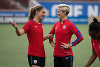 Cincinnati, OH - September 18, 2017: The USWNT trains before their friendly against New Zealand at Nippert Stadium.
