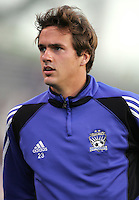 2 April 2005:   Roger Levesque of Earthquakes in warm-up before the game against Revolution at Spartan Stadium in San Jose, California.   Earthquakes and Revolutions tied at 2-2.  Credit: Michael Pimentel / ISI