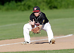 Watertown, CT- 26 June 2017-062617CM02-  Waterbury's Michael Keating fields the ball at third during their American Legion matchup against Oakville on Monday.    Christopher Massa Republican-American