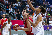 7th September 2017, Fenerbahce Arena, Istanbul, Turkey; FIBA Eurobasket Group D; Belgium versus Serbia; Center Ognjen Kuzmic #32 of Serbia in action under the basket during the match