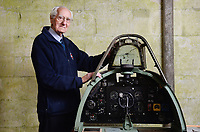 BNPS.co.uk (01202 558833)<br /> Pic: ZachCulpin/BNPS<br /> <br /> Norman Parker with a Spitfire cockpit at Salisbury Cathedral today.<br /> <br /> A campaign to build a memorial to honour the women and children who built over 2,000 Spitfires in secret to help win the Second World War has been launched.<br /> <br /> The little-known operation involved just a few hundred people who operated in requisitioned car garages, factories and workshops in the city of Salisbury.<br />  <br /> They built the legendary aircraft in piecemeal and worked with such discretion that the Wiltshire city's inhabitants were oblivious to it. <br /> <br /> The unsung workers were so prolific they accounted for one tenth of all Spitfires produced during the war.