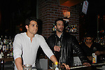 One Life To Live Lenny Platt and Nathaniel Marston - Stars of Daytime and Prime Time Television and Broadway bartend to benefit Stockings with Care 2011 Holiday Drive  - Celebrity Bartending Event with Silent Auction & Raffle on November 16, 2011 at the Hudson Station Bar & Grill, New York City, New York. For more information - www.stockingswithcare.org.  (Photo by Sue Coflin/Max Photos)