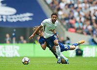 Tottenham's Mousa Dembele  and Chelsea's David Luiz during the Premier League match between Tottenham Hotspur and Chelsea at Wembley Stadium, London, England on 20 August 2017. Photo by Andrew Aleksiejczuk / PRiME Media Images.