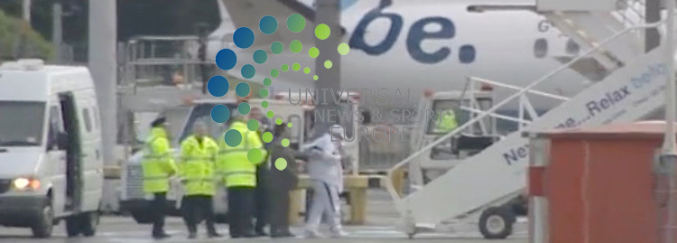 The Lockerbie bomber (dressed in white) gets on plabe at Glasgow airport after being released on compassionate grounds.Abdelbaset Ali al-Megrahi, 57, was jailed in 2001 for the atrocity which claimed 270 lives in 1988. Scottish Justice Secretary Kenny MacAskill revealed that the Libyan, who has terminal prostate cancer, would be allowed to return to his homeland. .Picture:  20 August 2009: Universal News and Sport (Scotland).All pictures must be credited to  www.universalnewsandsport.com.(0ffice) 0844 884 51 22.