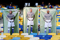 KIEV, UCRANIA, 01 JULHO 2012 - EURO2012 FINAL - ESPANHA X ITALIA - Torcedores italianos durante a decisão da Euro 2012 entre Espanha e Itália, em Kiev, Ucrânia, neste domingo (01).  (FOTO: PIXATHLON / BRAZIL PHOTO PRESS).