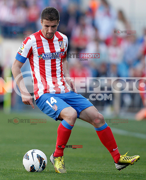 Atletico de Madrid's Gabi Fernandez during La Liga match.April 14,2013. (ALTERPHOTOS/Acero)