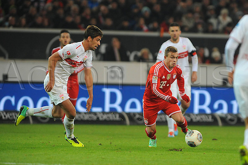 29.01.2014 Stuttgart, Germany. Xherdan Shaqiri during the Bundesliga game between VfB Stuttgart v Bayern Munich from the Gottlieb Daimler Stadion.