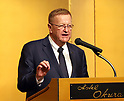 October 3, 2017, Tokyo, Japan - IOC vice president John Coates delivers a speech at the reception for the the seventh IOC project review in Tokyo on Tuesday, October 3, 2017. IOC representatives and the Tokyo Olympics organizing committee discussed preparations for the 2020 games.   (Photo by Yoshio Tsunoda/AFLO) LWX -ytd-