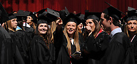 NWA Democrat-Gazette/ANDY SHUPE<br /> Friday, May 12, 2017, during commencement exercises for the Fulbright College of Arts and Sciences at the University of Arkansas in Bud Walton Arena. All other university graduations are scheduled to begin at 8:30 a.m. today.