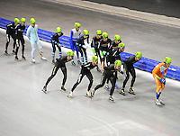 SCHAATSEN: HEERENVEEN: IJsstadion Thialf, 03-07-2014, Try-out Mass Start, ©foto Martin de Jong