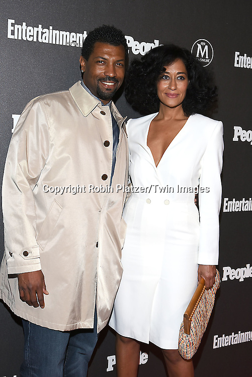 Deon Cole and Tracee Ellis Ross attend the Entertainment Weekly &amp; PEOPLE Magazine New York Upfronts Celebration on May 16, 2016 at Cedar Lake in New York, New York, USA.<br /> <br /> photo by Robin Platzer/Twin Images<br />  <br /> phone number 212-935-0770