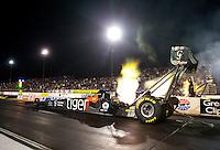 Jul 31, 2015; Sonoma, CA, USA; NHRA top fuel driver Larry Dixon during qualifying for the Sonoma Nationals at Sonoma Raceway. Mandatory Credit: Mark J. Rebilas-