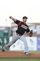 Zach Eflin #12 of the Lake Elsinore Storm pitches against the Lancaster JetHawks at The Hanger on April 4, 2014 in Lancaster, California. Lake Elsinore defeated Lancaster, 6-1. (Larry Goren/Four Seam Images)