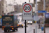 20 mph speed limit signs in Lewisham, London.