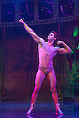 London, UK. 15 September 2015. Dominic Andersen as Rocky. The Rocky Horror Show, written and starring Richard O'Brien, returns to the West End for a limited run at the Playhouse theatre from 11 September 2015. The Rocky Horror Show Gala Performance on 17 September will be broadcast live to cinemas across the UK and Europe. With Richard O'Brien as Narrator, David Bedella as Frank'n'furter, Ben Forster as Brad, Haley Flaherty as Janet and Dominic Andersen as Rocky. Photo: Bettina Strenske