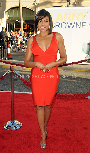 WWW.ACEPIXS.COM . . . . .  ....June 27 2011, Los Angeles....Actress Taraji P. Henson arriving at the Premiere of  'Larry Crowne' at Grauman's Chinese Theatre on June 27, 2011 in Hollywood, California....Please byline: PETER WEST - ACE PICTURES.... *** ***..Ace Pictures, Inc:  ..Philip Vaughan (212) 243-8787 or (646) 679 0430..e-mail: info@acepixs.com..web: http://www.acepixs.com