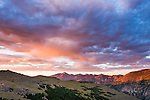 sunsrise, summer, August, morning, Rocky Mountain National Park, Colorado, USA