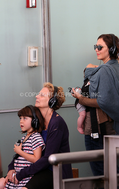 WWW.ACEPIXS.COM . . . . .  ....July 31 2012, New York City....Actress Maggie Gyllenhall and her husband actor Peter Sarsgaard accompanied by their children Romona and Gloria paid a vist to Maggie's mother Naomi Foner on the set of the new movie 'Very Good Girls' on July 31 2012 in New York City. Foner is directing the movie.......Please byline: Zelig Shaul - ACE PICTURES.... *** ***..Ace Pictures, Inc:  ..Philip Vaughan (212) 243-8787 or (646) 769 0430..e-mail: info@acepixs.com..web: http://www.acepixs.com