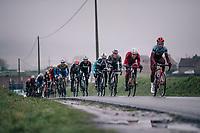 Tony Martin (GER/Katusha-Alpecin) leading the way<br /> <br /> 73rd Dwars Door Vlaanderen 2018 (1.UWT)<br /> Roeselare - Waregem (BEL): 180km