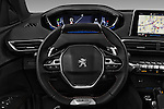 Car pictures of steering wheel view of a 2017 Peugeot 3008 GT-Line 5 Door Suv Steering Wheel
