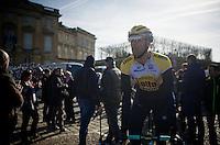 Maarten Wynants (BEL/LottoNL-Jumbo) to the start<br /> <br /> 113th Paris-Roubaix 2015