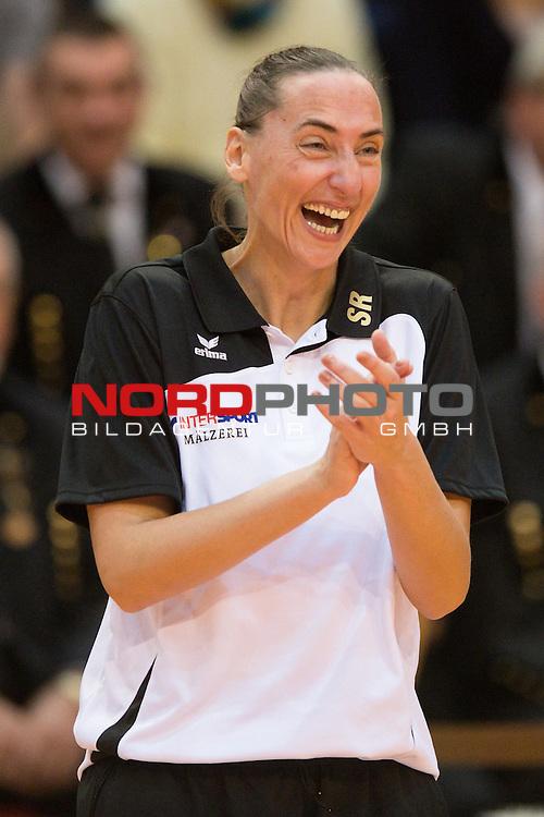 27.10.13, ENNI Sportpark, Moers,  Volleyball, Bundesliga Maenner, Moerser SC vs. VC Dresden<br />  <br /> <br /> Jubel Sylvia Roll (Trainer / Coach Dresden)<br /> <br />   Foto &copy; nph / Kurth