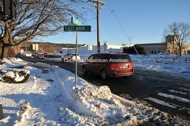 TORRINGTON, CT, 28 JAN 15 -  The city is planning to close Franklin Street to vehicle traffic from Main Street to Volkman Lane from April 1 to Nov. 1. In the summer Main Street Marketplace is planned to be on the street.  Alec Johnson/ Republican-American