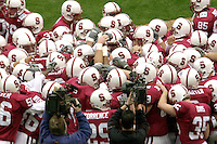 The team during Stanford's loss to Georgia Tech in the Seattle Bowl in Seattle, WA on December 27, 2001.<br />Photo credit mandatory: Gonzalesphoto.com