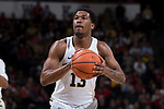 Bryant Crawford (13) of the Wake Forest Demon Deacons prepares to attempt a free throw during second half action against the North Carolina State Wolfpack at the LJVM Coliseum on February 17, 2018 in Winston-Salem, North Carolina.  The Wolfpack defeated the Demon Deacons 90-84.  (Brian Westerholt/Sports On Film)