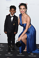 Sunny Pawar and Amy Jackson<br /> at the London Hilton Hotel for the Asian Awards 2017, London. <br /> <br /> <br /> &copy;Ash Knotek  D3261  05/05/2017