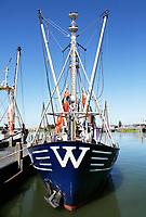 Nederland  Stavoren- 2017.  Viskotter in de haven.  Foto Berlinda van Dam / Hollandse Hoogte