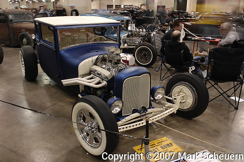 Clark Bates' 1927 Ford Coupe at the 2007 Detroit Autorama